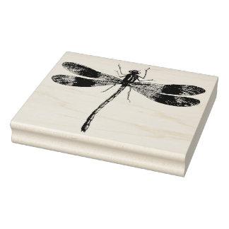 Selo de borracha da arte da libélula do vintage carimbo de borracha