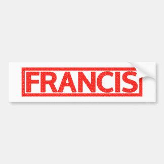 Selo de Francis Adesivo Para Carro