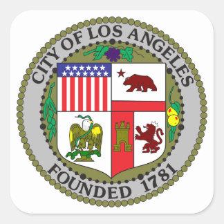 Selo de Los Angeles Adesivo Quadrado