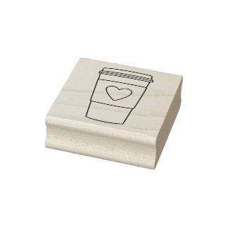Selo de papel da arte do copo de café carimbo de borracha