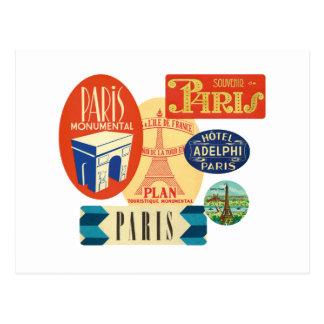 Selo de Paris Cartão Postal