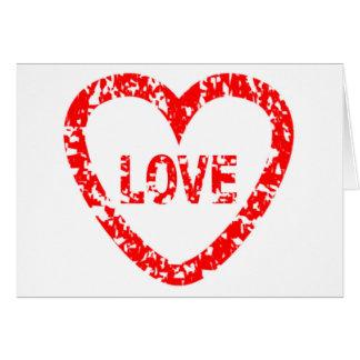 Selo do amor cartão comemorativo