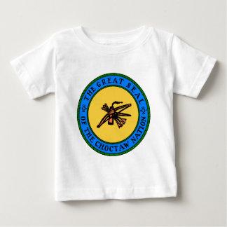 Selo do Choctaw Camiseta Para Bebê