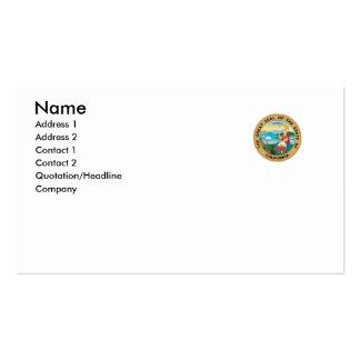 Selo do estado de Califórnia Cartoes De Visitas
