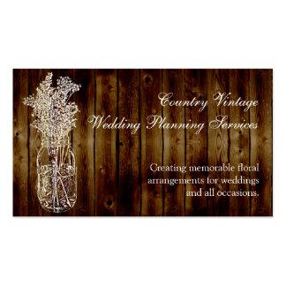 Selo do frasco de pedreiro na prancha de madeira modelo cartões de visita