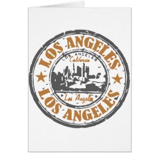 Selo do orgulho de Los Angeles Califórnia Cartão Comemorativo