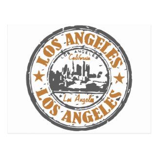 Selo do orgulho de Los Angeles Califórnia Cartão Postal