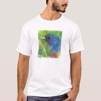 Selo do pássaro do primavera no preto camiseta