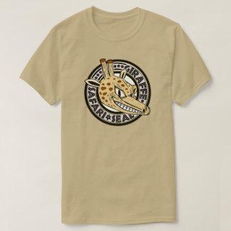 Selo do safari do girafa camiseta