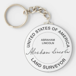 Selo do topógrafo da terra de Abraham Lincoln E.U. Chaveiros