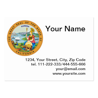 Selo dos Estados da Califórnia Cartoes De Visitas