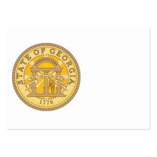 Selo dos Estados da Geórgia Modelo Cartões De Visitas