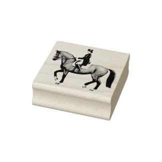 Selo equestre da arte do cavalo do adestramento carimbo de borracha