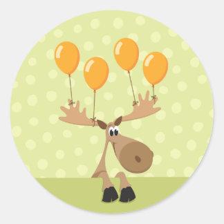 Selo/etiqueta amarelos do envelope dos balões dos adesivo