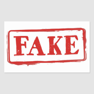 Selo FALSIFICADO: Etiqueta gráfica engraçada da