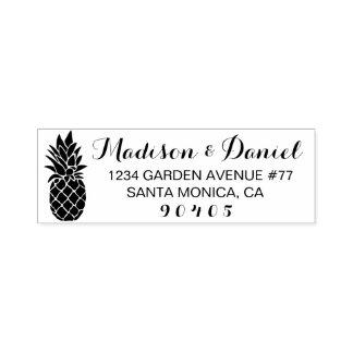 Selo feito sob encomenda do endereço do abacaxi, carimbo auto entintado