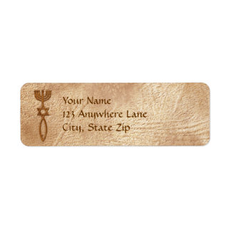 Selo messiânico etiquetas de endereço do remetente