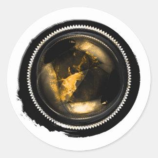 Selo místico da crista do Opal do topázio do ouro Adesivo Redondo