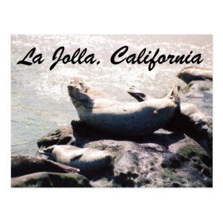 Selo no cartão da foto de La Jolla Califórnia