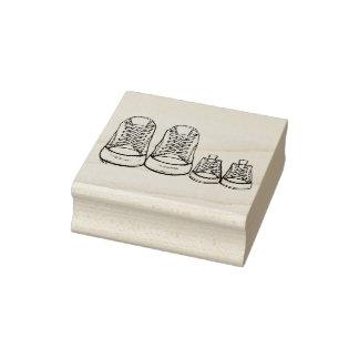 Selo novo dos calçados de bebê das sapatilhas carimbo de borracha