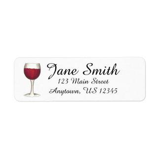 Selo personalizado da etiqueta de endereço do