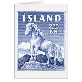Selo postal do cavalo de 1958 islandeses