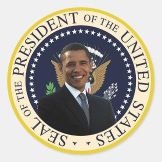Selo presidencial de Obama Adesivos Redondos