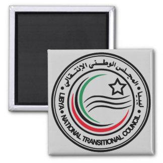 selo transitório do conselho de Líbia Ímã Quadrado