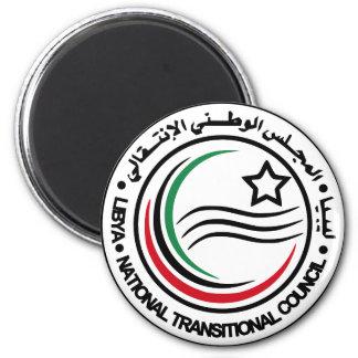 selo transitório do conselho de Líbia Ímã Redondo 5.08cm