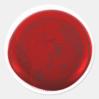 Selo vermelho clássico do envelope da cera adesivo redondo