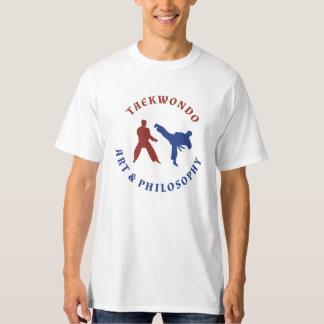 Selo vermelho e azul de Taekwondo T-shirt