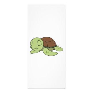Selos bonitos de grito do convite da tartaruga da panfleto informativo personalizado