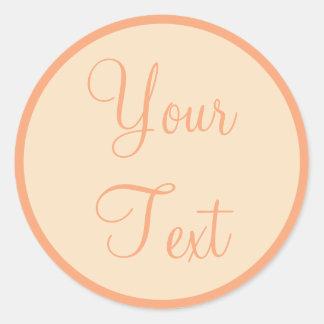 Selos do envelope do pêssego & do creme com texto adesivo