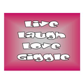 Selos e cartões vivos do riso do amor do riso