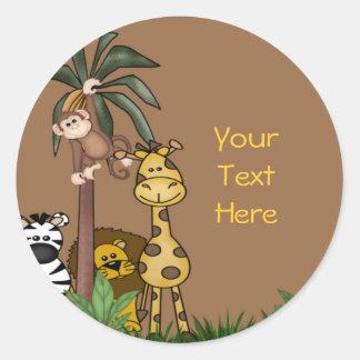 Selos e etiquetas do envelope da selva adesivo