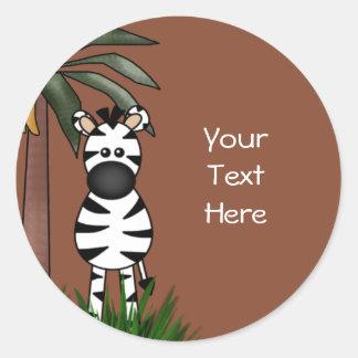 Selos e etiquetas do envelope da zebra adesivo em formato redondo