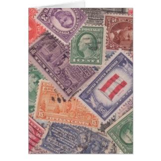 Selos em Notecards Cartao