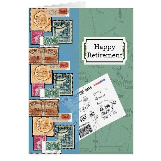 Selos felizes da aposentadoria do mundo cartões