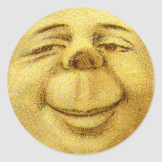 Selos felizes das etiquetas do envelope da lua