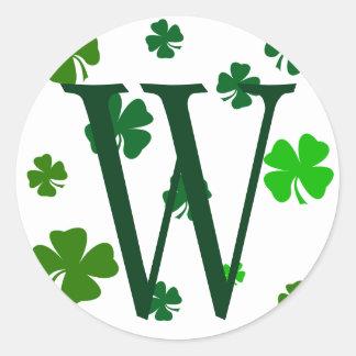 Selos irlandeses das etiquetas da inicial do