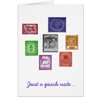 Selos Notecard Cartões