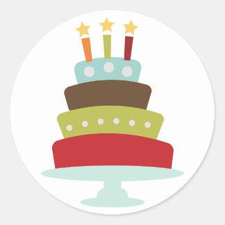 Selos ou etiquetas do envelope do bolo