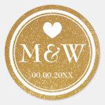 Selos Sparkly das etiquetas do favor do casamento Adesivo