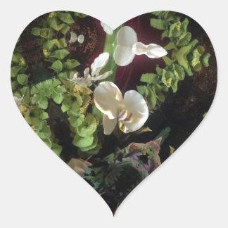 Selva da orquídea adesivo coração
