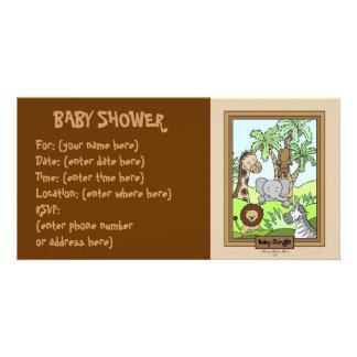 Selva do bebê 20 chás de fraldas cartao com fotos