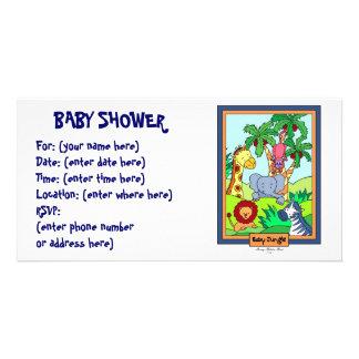 Selva do bebê 28 chás de fraldas cartao com fotos personalizado