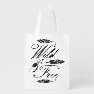 Selvagem livre sacolas ecológicas para supermercado