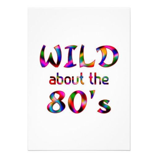 Selvagem sobre o anos 80 convite personalizados