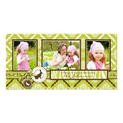 Selvagem sobre o cartão do trio da foto dos coelho cartões com fotos
