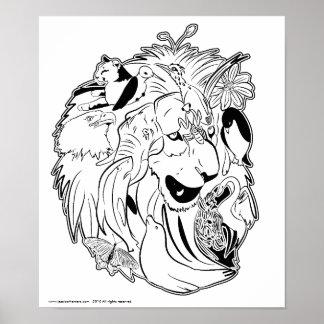 Selvagem sobre o poster do animal dos animais
